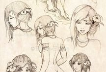 femme nu dessin