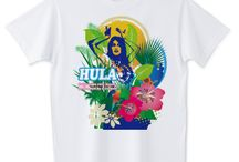 ☆surf&hawaii t-shirts