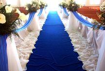 Santorini wedding decor