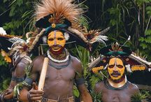 To the land of feathered headdresses I go... / Inspiration for my upcoming trip to Papua New Guinea