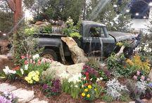 Garden cars.