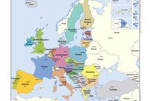Cartes Ue / L'Europe vue d'en haut