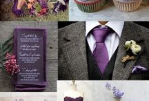 Simple & Elegant Mountain Wedding / A simple yet elegant purple and gray mountain wedding with tasteful and traditional touches.