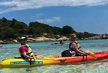 Sea Kayak Halkidiki /  Sea Kayak Halkidiki is based in the middle peninsula of Halkidiki called Sithonia and in particular on the beautiful area of Vourvourou. The region offers a unique combination of sea with characteristics of a lake, a mountain covered with thick forests and 9 unique islands, visible from the beach, making it an ideal destination for the summer.