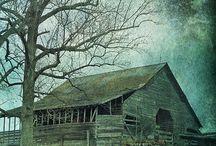I Heart Old Barns / Papaw's farm had many barns.   / by Betty Bennett