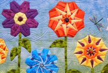 Flower & Garden Quilts / I love to garden, so it is delightful to find nature's beauty in quilts.
