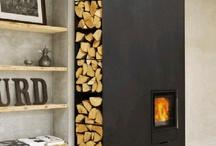 Fireplace inside/outside