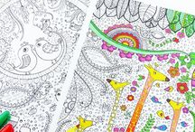 Coloring Pages & Drawing / Printable Coloring Pages and Coloring Books - Doodles / by Ashley Whipple