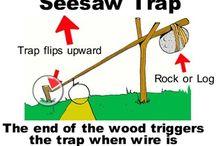 Survival: traps & knots