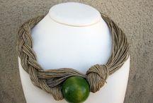 jewellery: linen cord