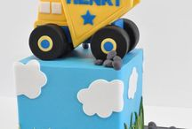 birthday party ideas / dump trucks party ideas and cake ideas