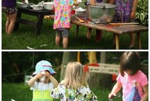 Kids fun outdoors / Outdoors fun kids activities, messy and clean, for toddlers and older kids, diy ideas for our (future) backyard