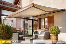 Stores extérieurs / ROCHE HABITAT propose une offre complète de stores de terrasse, fenêtre ou toiture, du plus classique au plus design, fabriqués en France, sur mesure et entièrement personnalisables, pour répondre à tous les besoins de protection solaire.