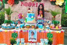decoración fiesta moana