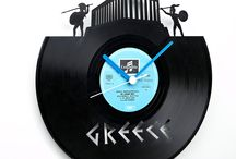 VINYL - ORES by KORES / Vinyl products are created from repurposed vintage record albums that are transformed into a variety of new designs.  The original record labels are intact and represent the most popular music ever put on vinyl. We work with LPs, 33s, and vintage album covers to create personal, unique gifts that bring vinyl records back into your home! LP clocks are created from vintage records. The record labels are attractive and bright, selected for their classic vintage appearance.