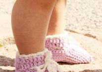 dětské botičky / háčkované botičky, papučky, návody