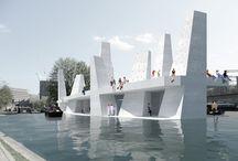 Entornos Urbanos / Proyectos para colocar en la calla, en un río, en un canal... Estructuras urbanas para se utilizadas por la gente, de muy diferentes maneras, pero forman parte de una ciudad.