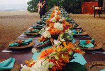 Tropical Wedding Orange Azur Green