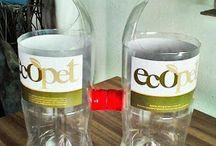 reciclagem garrafa pet / by Claudia Moreira