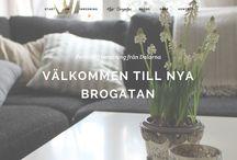 Nyabrogatan.se / Inrednings blogg med webshop. Responsive & Retina ready upplösning