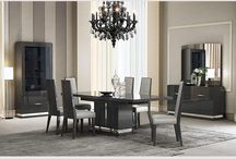 Modern Grey Extendable Dining Collection Florida
