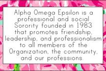 About Alpha Omega Epsilon