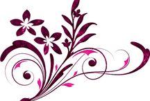 PNG Çiçekler,Frameler,Süslemeler,Photoshoplar İçin Malzemeler