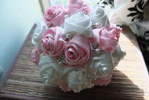 Ribbon flower bouquets
