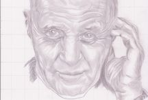 sketsa pencil wajah artis anthony hopkins
