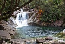 Josephine Falls / Located 75 km south of Cairns is Josephine Falls. A popular freshwater swimming hole for locals showcasing natural rock slides, paved walking tracks, lookouts and a picnic area.