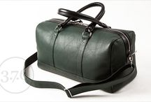 3.7.6. Overnighter Bag OLV BGRBL / Overnighter Bag OLV - dark bottle green natural leather combined with black leather.  http://www.376west.com