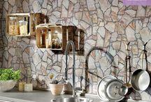 Taş Dokusu Sevenlere / Beton, taş, mermer ve tuğla desenleri dekorasyonda yeni nesil bir tarz oluştururken, evinizde retro bir etki oluşturabilirsiniz.