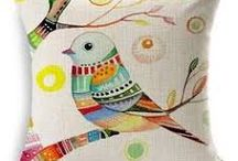 painted pillow cover