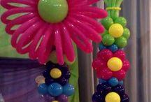 Flower theme balloons