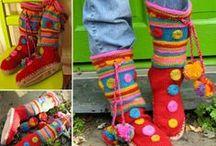 Pantofole a maglia