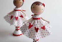 Muñecas madera