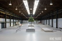 "SKATEPARK PIER15 | BREDA / At our hometown Breda we have fought for a couple of years to build our ""own"" skatecourse. Pier 15 is our dream skatepark in an old warehouse in Breda (The Netherlands) and is custom designed and build for street skateboarders."