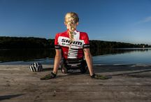 Danish Championship jersey XCO / Special made jersey for the winners of the Danish Championships XCO 2014.  Rider is Malene Degn, Holte MTBK.