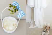 Tailored Modern Blue and White Wedding