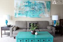 Large Canvas Wall Art Ideas / Oversized canvas wall art and other large wall art ideas for the home and office.