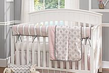 Baby Bedding by Liz and Roo / Fine baby bedding made in America.  Four pc. sets in soft palettes for your baby's room.  Accessories to coordinate or match. / by American Made Dorm & Home