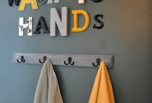 Kids bathroom / by Mandy at Living Peacefully with Children