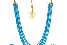 Traditional Crystal Beads Bollywood Designer Jewelry Set