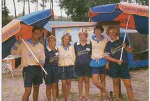 1990's Canvas Holidays / Camping with Canvas in the 1990's moved up a notch with the arrival of the new, very spacious orange and blue tents. Originally launched under the name the Balmoral Tent, it was later renamed as the Maxi Tent - a tent that is still much loved and very much at the heart of an authentic camping holiday under Canvas.