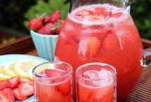 Sucos e águas aromáticas