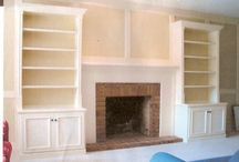 built in shelving and cabinetry