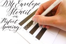 Paper, Pens & Old Fashioned Note Ideas / Pretty paper, great pens, ideas for addressing envelopes