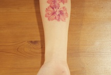 flower  + water colour tattoos
