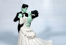 Halloween Wedding Cake Toppers / Collection of Halloween Wedding Cake Toppers.