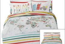 World Explorer Bedding / Your Explorer will love this Travel inspired bedding! The World Explorer bedding is a part of the Dream Big Collection by Where the Polka Dots Roam and it will have your explorer dreaming of where they will explore next!  This educational and bright design is perfect for both boys and girls and will last for years to come!  Let's go!